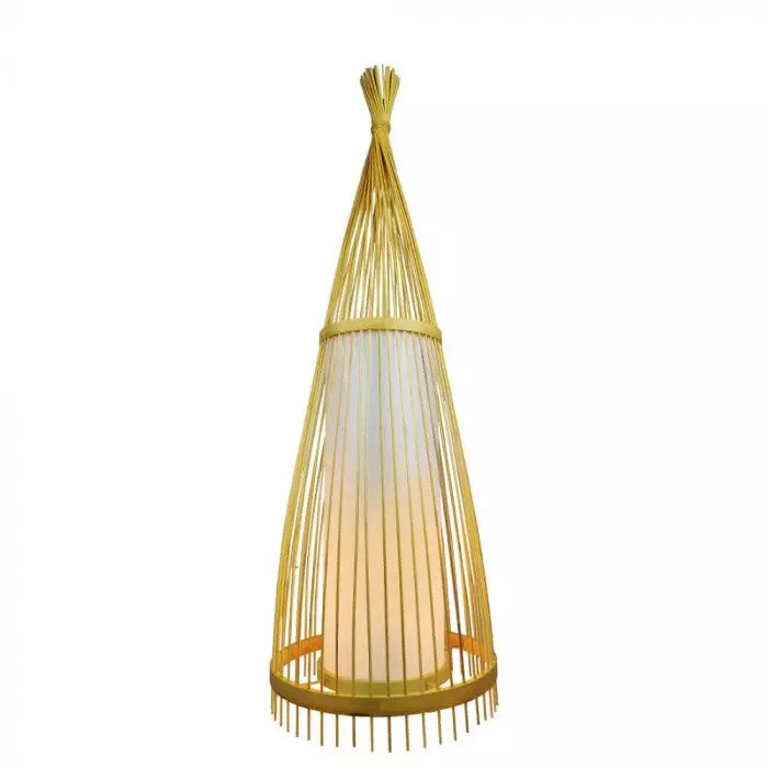 VT-4150 WOODEN FLOOR LAMP WITH RATTAN LAMPSHADE E27 HOLDER D:400*1500MM
