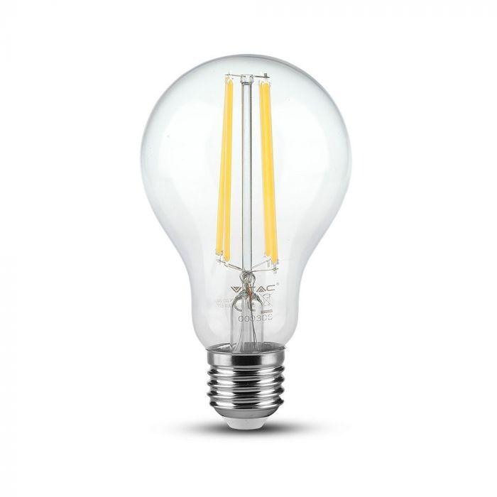 VT-2133 12.5W A70 LED FILAMENT BULB-CLEAR GLASS 3000K E27