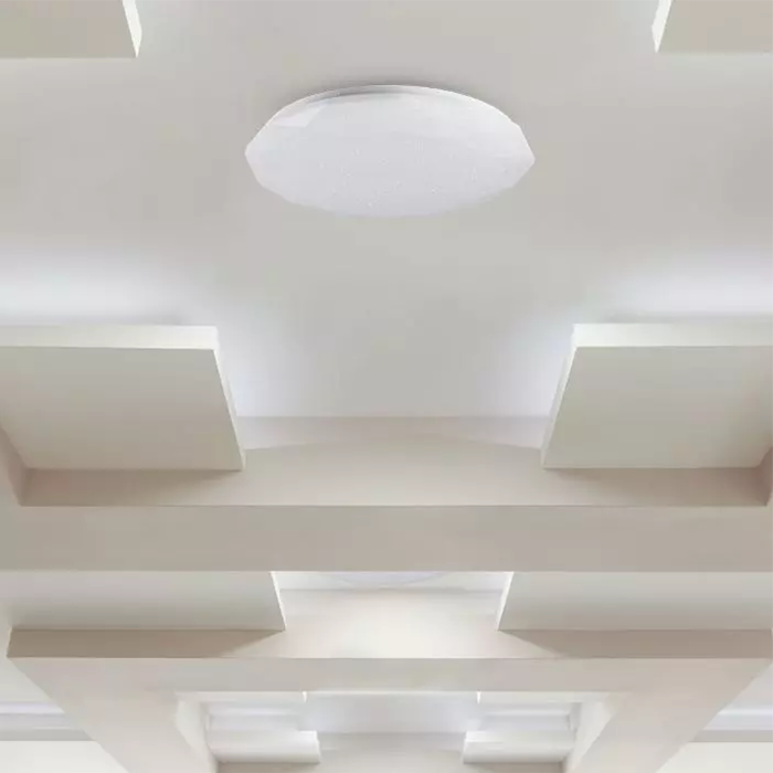 VT-8557 LED 30W/60W/30W DESIGNER DOME CCT WITH REMOTE (DIMMABLE) DIAMOND COVER