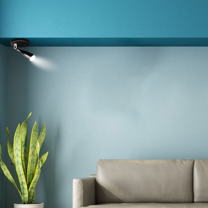 VT-805 4.5W LED WALL LIGHT WITH SWITCH 3000K BLACK
