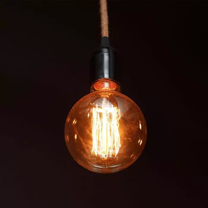 VT-2195 4W G125 LED ART FILAMENT BULB-AMBER GLASS 1800K E27