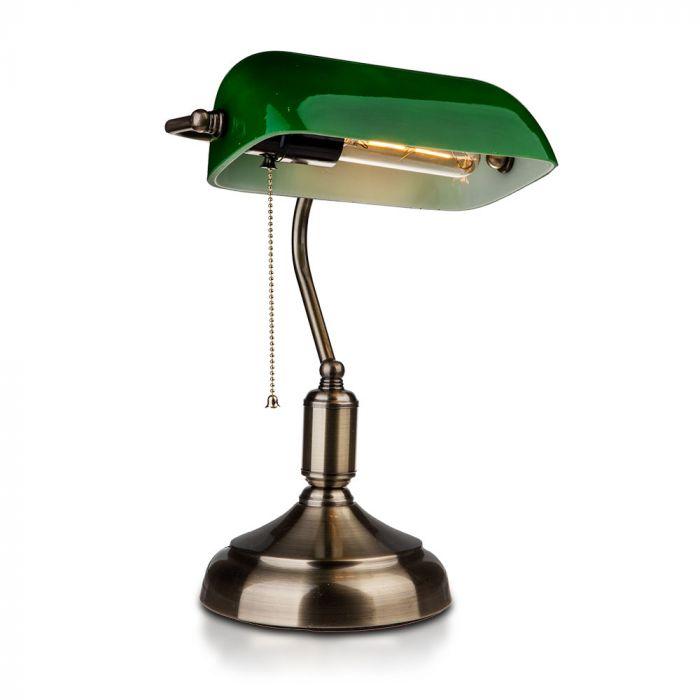 VT-7151 BANKER BAKELITE TABLE LAMP WITH E27 HOLDER-GREEN