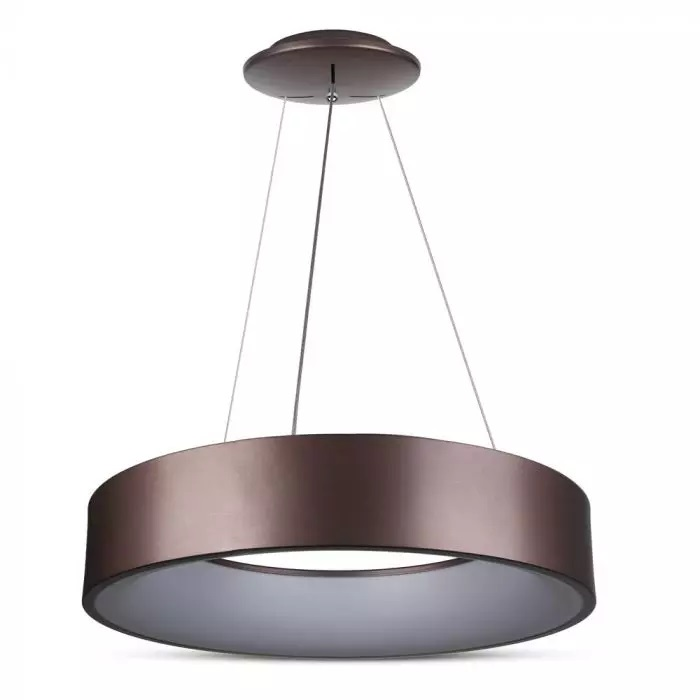 VT-25-1D 20W LED SURFACE SMOOTH PENDANT LIGHT 3000K-COFFEE COLOR,DIMMABLE
