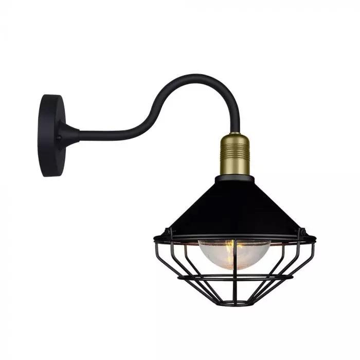 VT-720 WALL LAMP-MATT BLACK-DOWN IP65