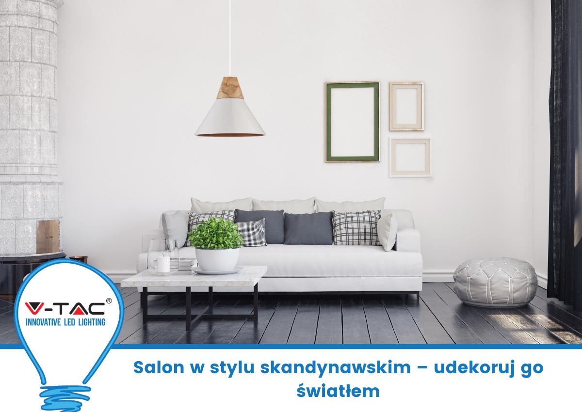Salon w stylu skandynawskim – udekoruj go światłem
