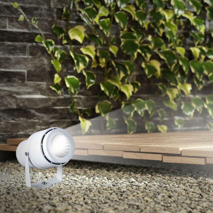 VT-857 12W LED GARDEN LAMP 4000K WHITE BODY