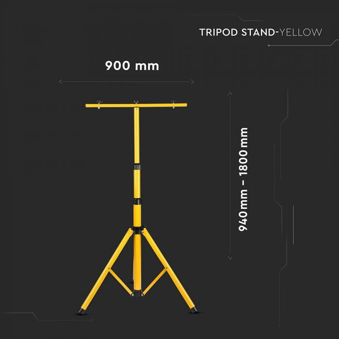 VT-41150 TRIPOD STAND FOR FLOOD LIGHT-YELLOW BODY
