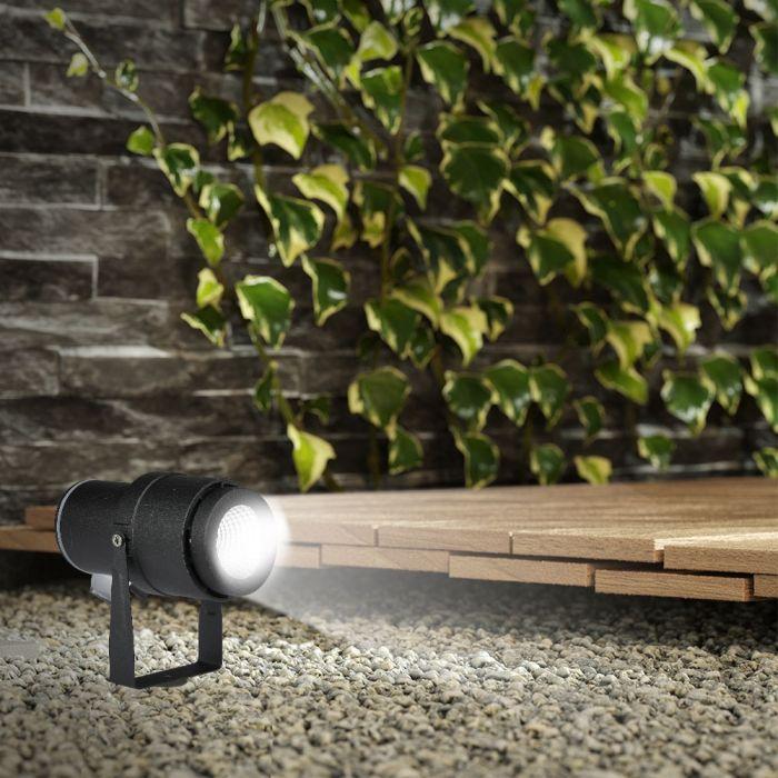 VT-857 12W LED GARDEN LAMP 4000K BLACK BODY