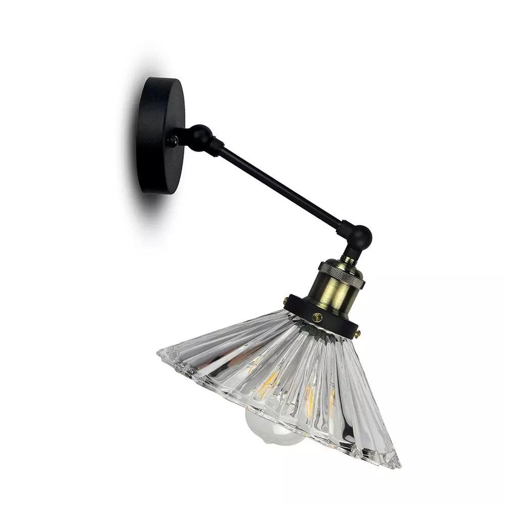 VT-7180 W/V SHAPE GLASS WALL LAMP -TRANSPARENT D:180