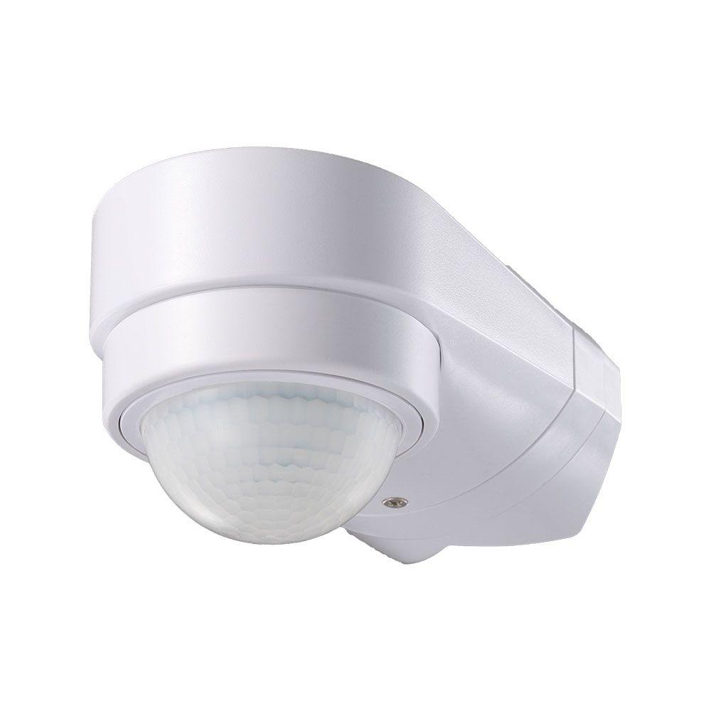 VT-8094 INFRARED MOTION SENSOR-ADJUSTABLE CORNER-WHITE BODY, IP65 (MAX:600W LED)
