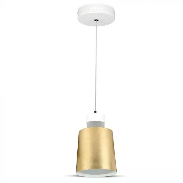 VT-7333 7W LED PENDANT LIGHT(ACRYLIC)-GOLD LAMPSHADE 4000K