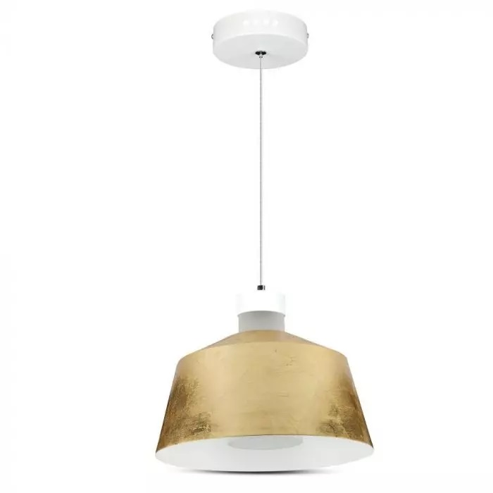 VT-7444 7W LED PENDANT LIGHT(ACRYLIC)-GOLD LAMPSHADE 3000K
