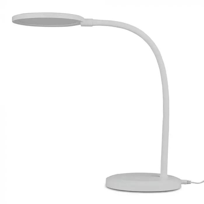 VT-7507 7W LED DESK LAMP WITH WHITE BODY 3000K STEPLESS DIMMING